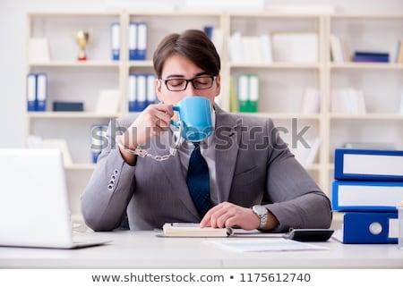 koffie · verslaafde · cafe · zwarte · beker · witte - stockfoto © elnur