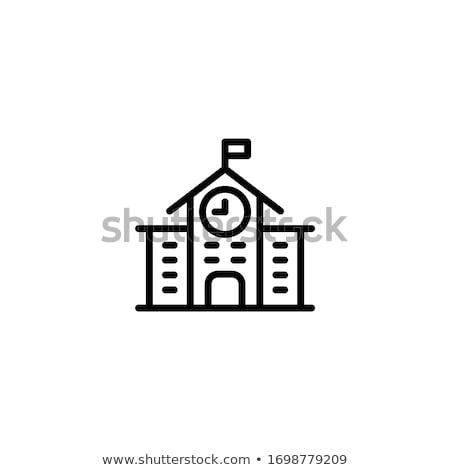 Reloj lineal icono aislado blanco cara Foto stock © kyryloff