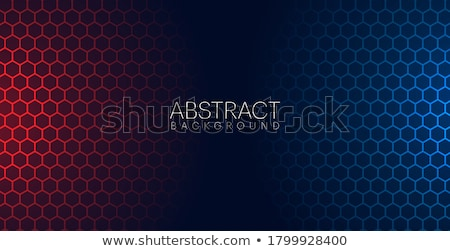 glowing abstract banner with red and blue lights stock photo © sarts