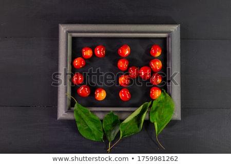 fraîches · sweet · cerises · juteuse · cerise · baies - photo stock © anneleven