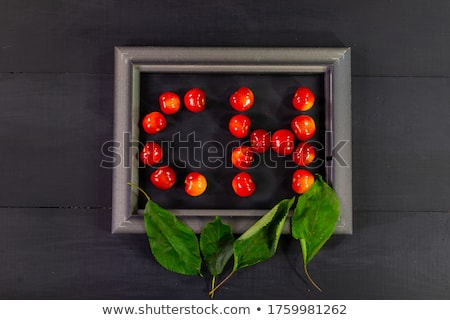 Fresh sweet cherries, juicy cherry berries fruit dessert as heal Stock photo © Anneleven