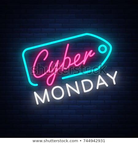 digital cyber monday technology style background design Stock photo © SArts