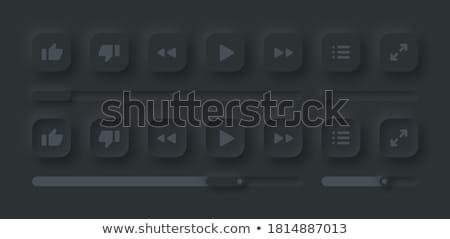 単純な タイムライン テンプレート アイコン 暗い バージョン ストックフォト © orson
