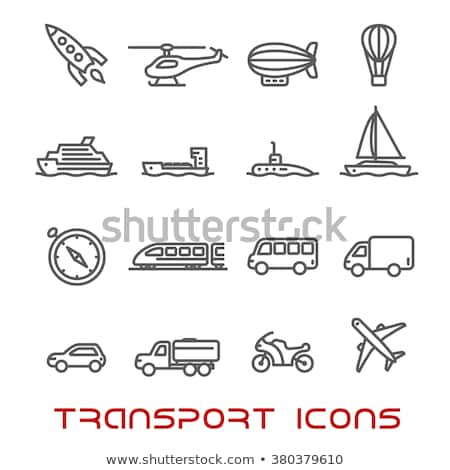 Industry Tractor Vehicle Vector Thin Line Icon Stock photo © pikepicture