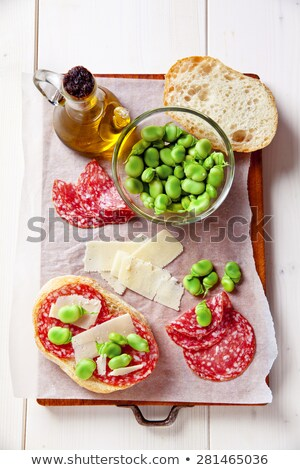dish with beans salami and cheese Stock photo © Antonio-S