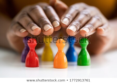 Protecting Colorful Pawns Stock photo © AndreyPopov