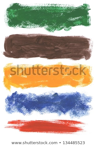 Artistic abstract texture background, orange acrylic paint brush Stock photo © Anneleven
