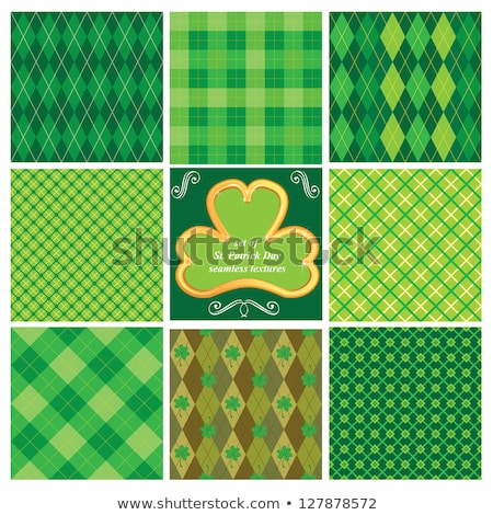 bunch of clover leaves st. patricks day background Stock photo © SArts