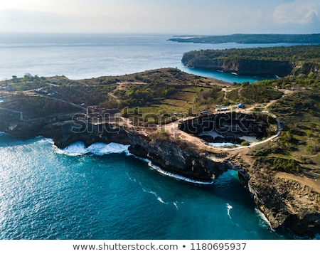 Anjos bali Indonésia praia céu mar Foto stock © galitskaya