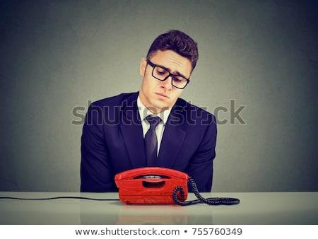 Zakenman wachten telefoongesprek dienst contact business Stockfoto © AndreyPopov