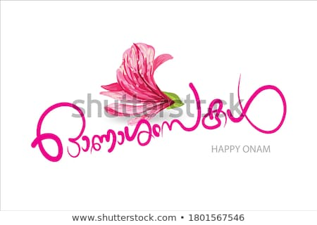 Onam greetings Stock photo © sahua