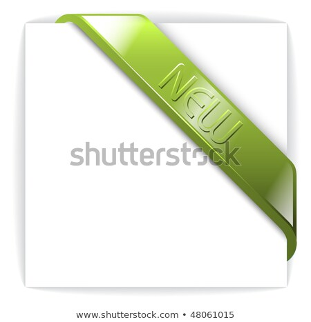 New glassy green corner ribbon Stock photo © orson