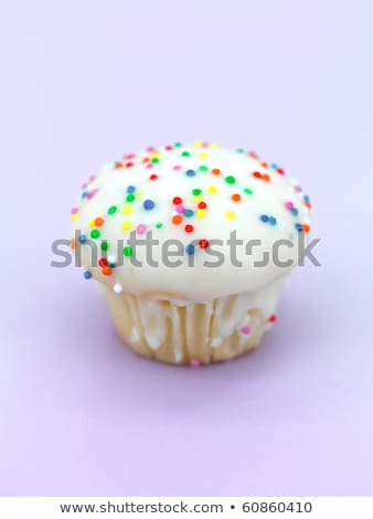 Hundreds and thousands decorated muffin Stock photo © aladin66