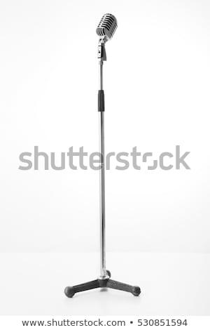 vintage microphone on stage Stock photo © m_pavlov