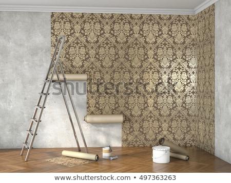 Decorator hanging wallpaper Stock photo © photography33