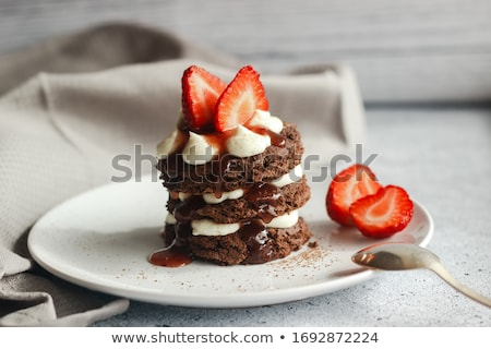 Delicious dessert with strawberry Stock photo © zhekos