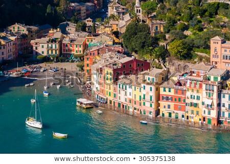 légifelvétel · Olaszország · kicsi · színes · házak · város - stock fotó © rglinsky77