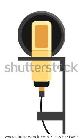 vocal studio microphone over yellow  Stock photo © vkraskouski