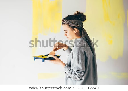 woman painting a room stock photo © photography33