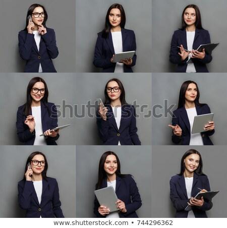 Sok arckifejezések fiatal alkalmazott férfi sikoly Stock fotó © photography33