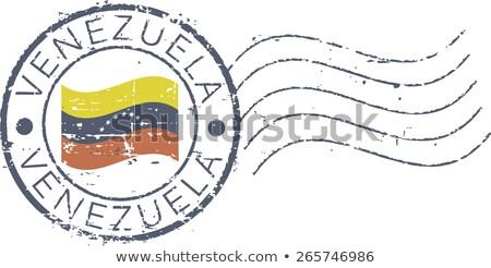Posta Venezuela kép bélyeg térkép zászló Stock fotó © perysty