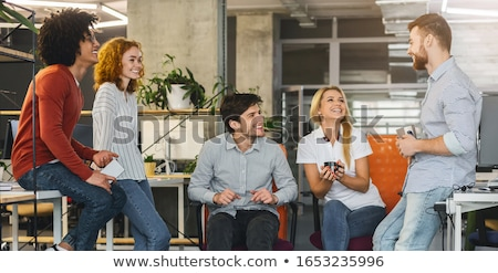 De trabajo buena ambiente oficina ordenador mujeres Foto stock © photography33