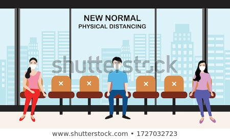 Businessman in waiting area Stock photo © photography33