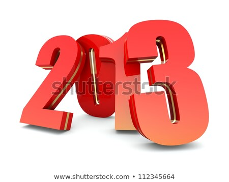 Stock photo: 3d Year 2013 On White Background