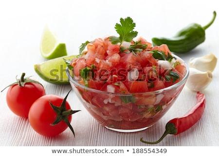 salsa · fresche · fatto · in · casa · pot · legno - foto d'archivio © saddako2