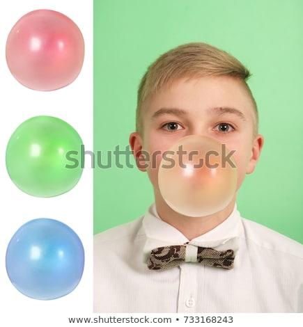 three color chewing gum balls Stock photo © Grazvydas