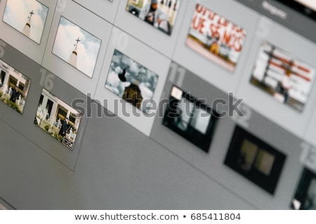 foto · editor · computador · secretária · teclado · tela - foto stock © wavebreak_media