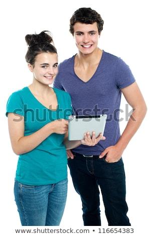 yeni · tablet · pazar - stok fotoğraf © stockyimages