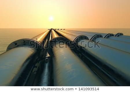Water pipeline transporting   Stock photo © rufous