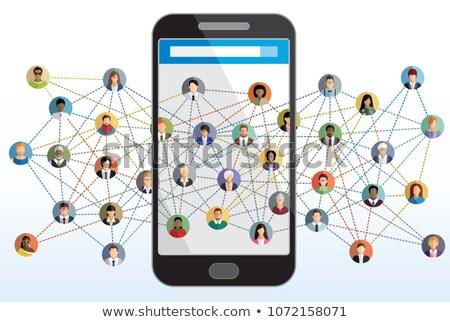 Stockfoto: Globale · web · zachte · vector · eps10