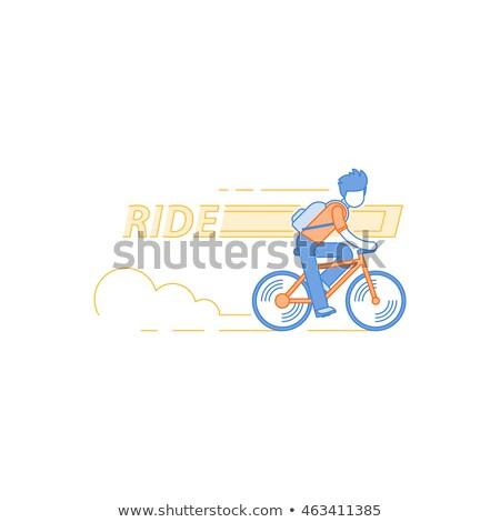 bicikli · grafika · szett · bicikli · terv · hegy - stock fotó © zzve