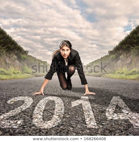 Klaar 2014 metalen nummers jaar objecten Stockfoto © Stocksnapper