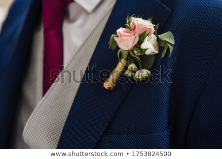 Flor boda chaqueta novio negocios familia Foto stock © taden
