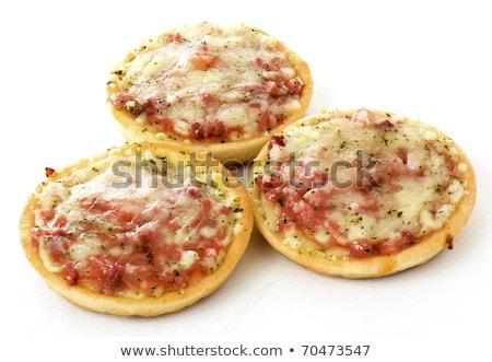 Foto stock: Três · pequeno · comida · pizza · vida