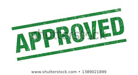 Elismert felirat absztrakt vektor csoport bélyeg Stock fotó © burakowski