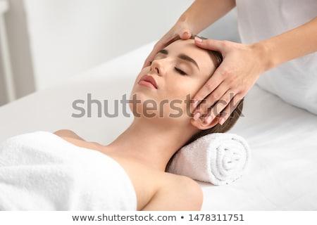 mulher · cabeça · massagem · luxo · estância · termal · centro - foto stock © andreypopov