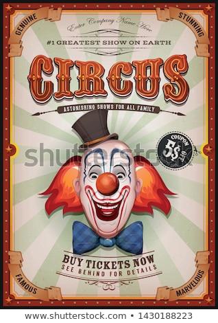 circus · clown · vector · prestaties · hilarisch · lachend - stockfoto © anbuch