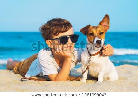 Nők fiúk kutya nő kettő kutyák Stock fotó © Pruser