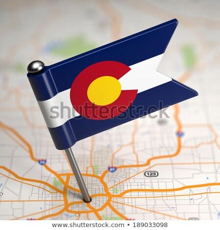Колорадо небольшой флаг карта избирательный подход фон Сток-фото © tashatuvango