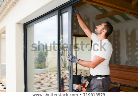 picture of a handsome builder stock photo © nejron