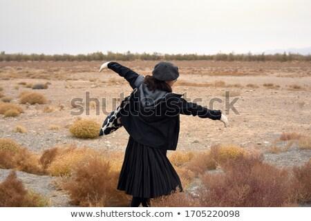 portrait of beautiful teenage girl outdoors in autumn landscape stock photo © monkey_business