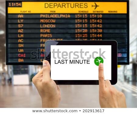 last minute flight Stock photo © flipfine