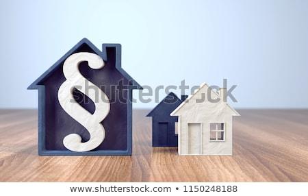 Paragraaf huis 3D gegenereerde foto eenvoudige Stockfoto © flipfine