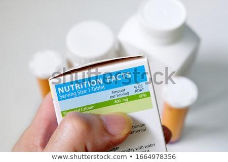 kiegészítők · tudomány · étel · sport · fitnessz · egészség - stock fotó © zerbor