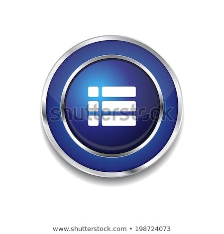Beállítások körkörös vektor kék webes ikon gomb Stock fotó © rizwanali3d