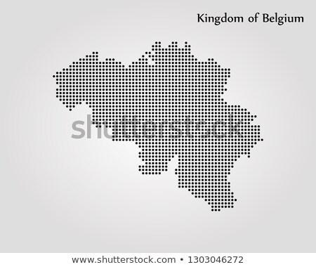 Mapa reino Bélgica ponto padrão vetor Foto stock © Istanbul2009